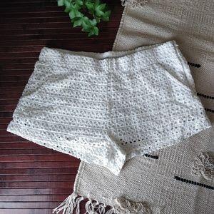 4/$25 Zara Trafaluc White Lace Crochet Short S